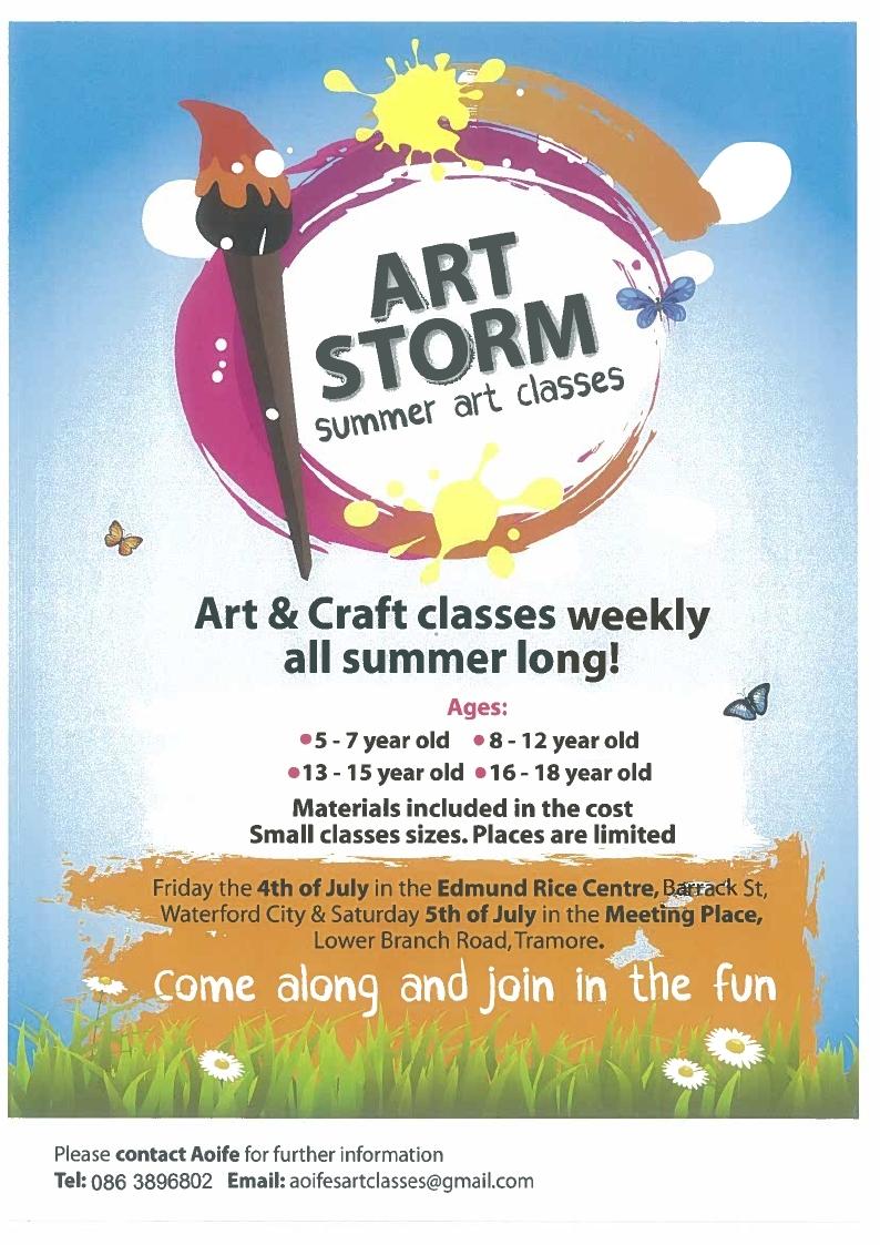 Art Storm Summer Art Classes Edmund Riceedmund Rice