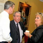 Cara chatting with Sean Power, Edmund Rice Centre committee and Richard Hurley, Granville Hotel