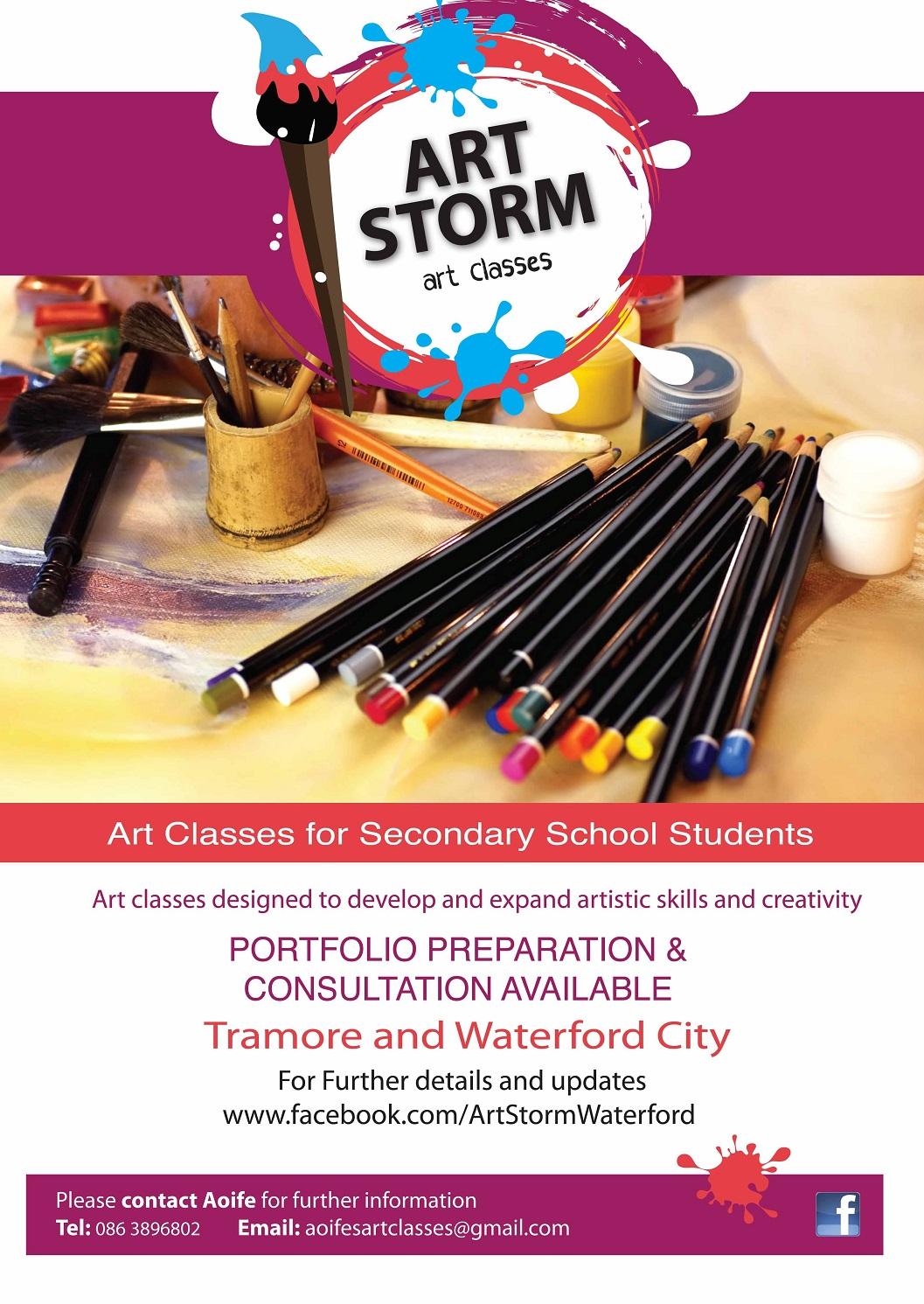 AOIFE BROPHYsecondary Poster ARTSTORM POSTER Spring Art Storm Classes